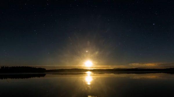 Time lapse sur la beauté de la Suède