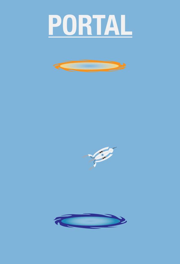Affiches minimalistes de jeux-vidéo par Caleb Barefoot