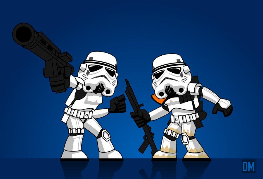 Photo of Les illustrations cartoons Star Wars de Daniel Mead