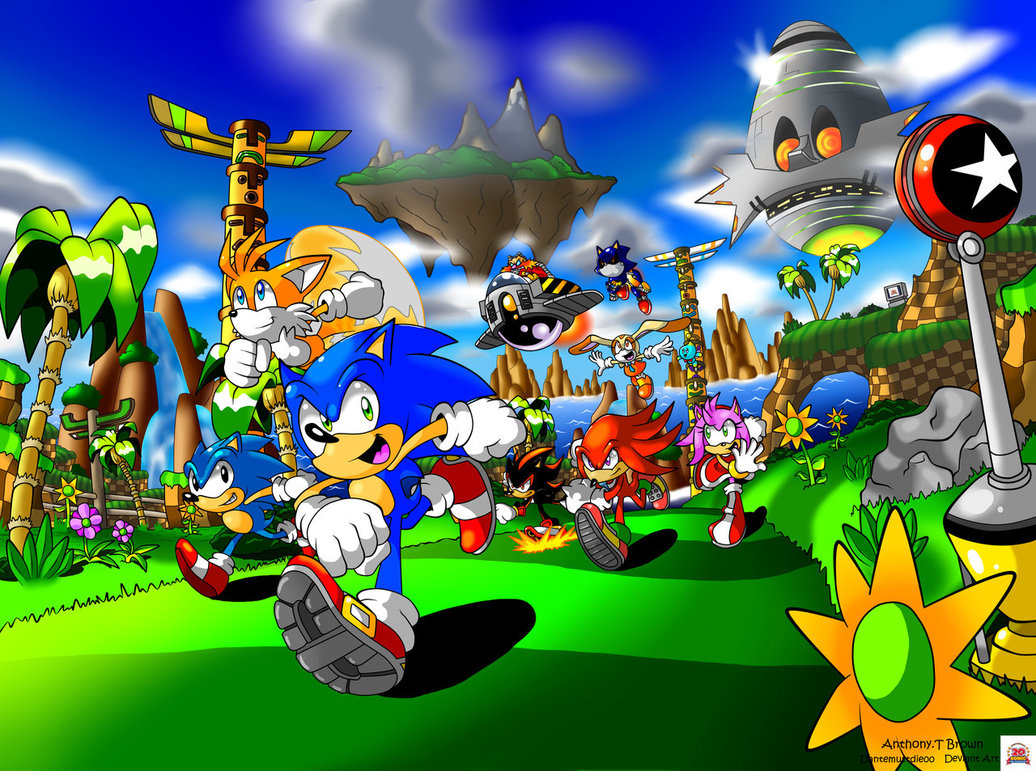 Photo of Les illustrations du monde de Sonic par Anthony Tyler Brown