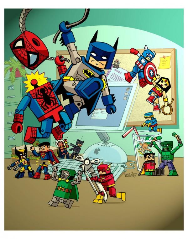 Les illustrations de super-héros marrantes par Ryan Dunlavey