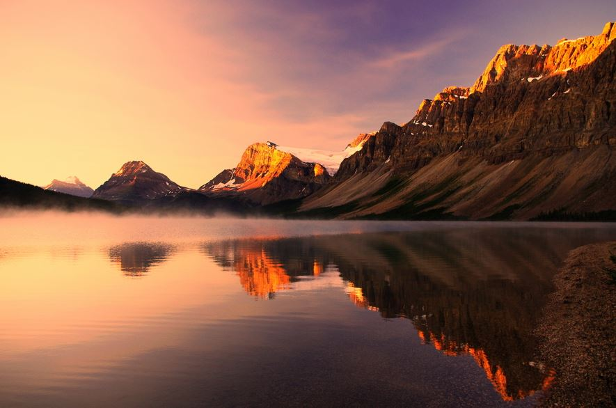Photo of Photographie du jour #322 : Sunrise at Bow lake