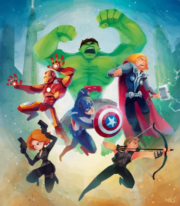 Les illustrations de l'artiste zgul-osr1113 de super-héros