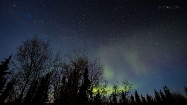 Time lapse de Aurores Polaires de l'Alaska