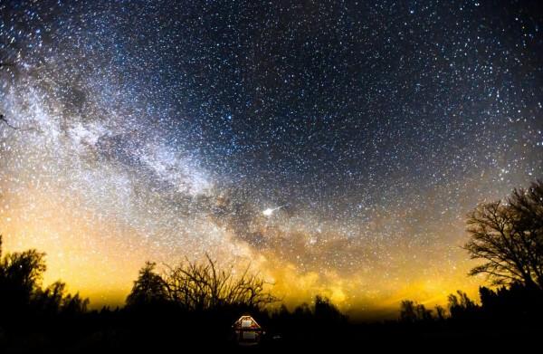 Time lapse des Aurores Polaires de Lettonie