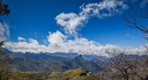 Time lapse de l'île d'Espagnol de Grande Canarie