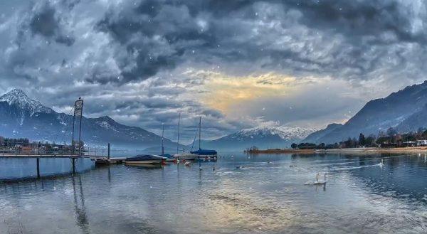 Time lapse du lac de Côme, Valteline - Italie