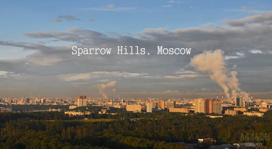 Photo of Time lapse de Moscou depuis le Sparrow Hills