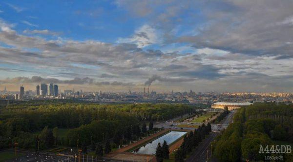 Time lapse de Moscou depuis le Sparrow Hills