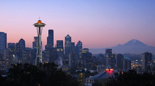 Time lapse de la ville de Seattle - Etats-Unis