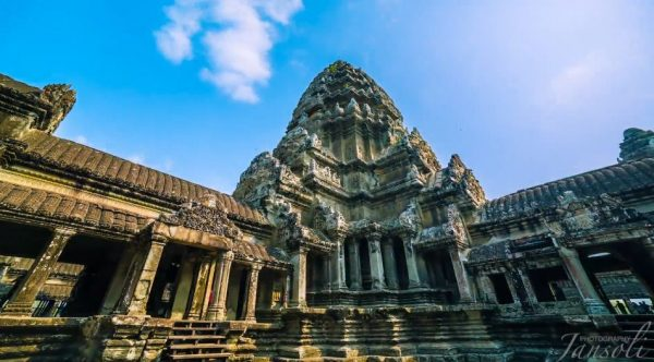Time lapse du temple Angkor Vat - Cambodge