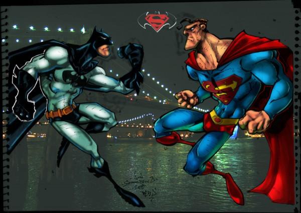 Batman-Superman-illustrations-super-heros-ryan-lewis (1)