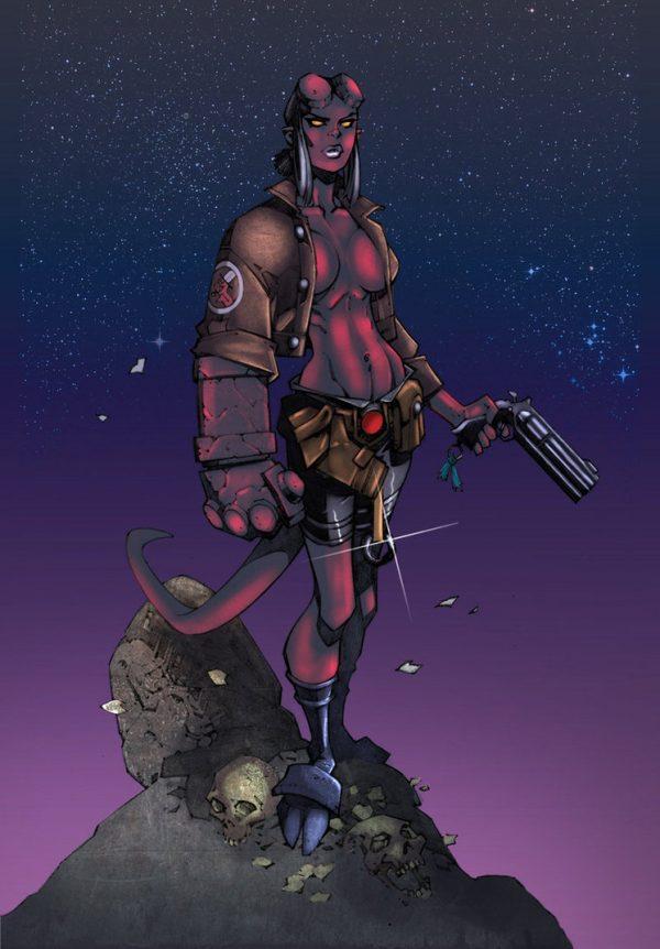 Hell-Boy-illustrations-super-heros-ryan-lewis (1)