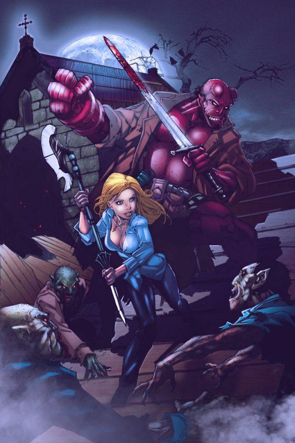 Les illustrations de super-héros par Ryan Lewis