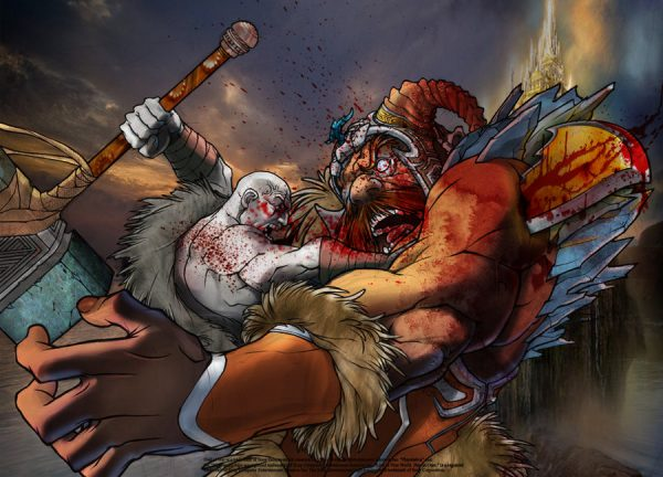 Kratos-illustrations-super-heros-ryan-lewis (1)