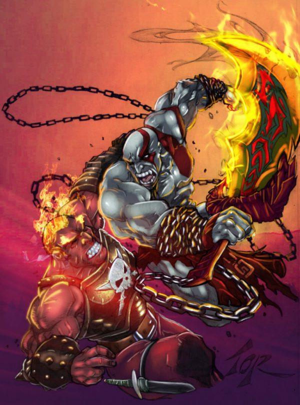 Kratos-illustrations-super-heros-ryan-lewis (2)