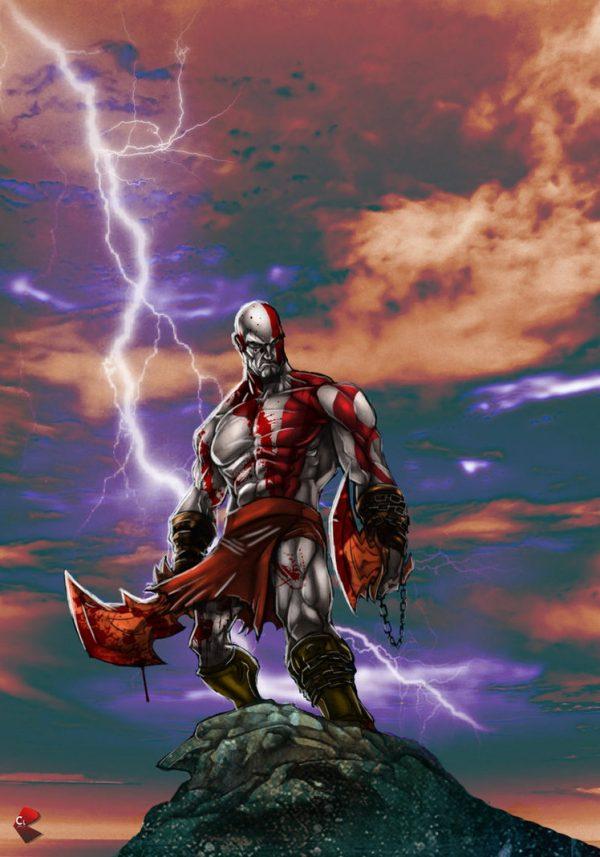 Kratos-illustrations-super-heros-ryan-lewis (3)