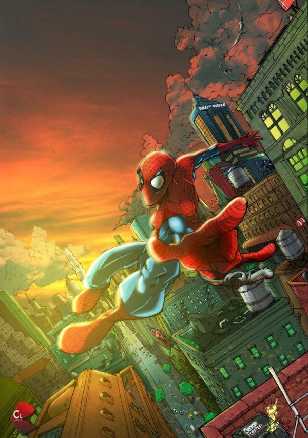 Spider-man-illustrations-super-heros-ryan-lewis