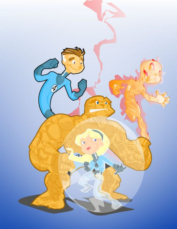fantastic-four-illustrations-cartoons-super-heros-kevtoons