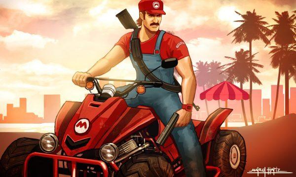 Grand Thelft Mario : Quand Mario rencontre le monde de GTA par Amirul Hafiz