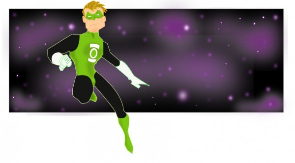green-lantern-illustrations-cartoons-super-heros-kevtoons