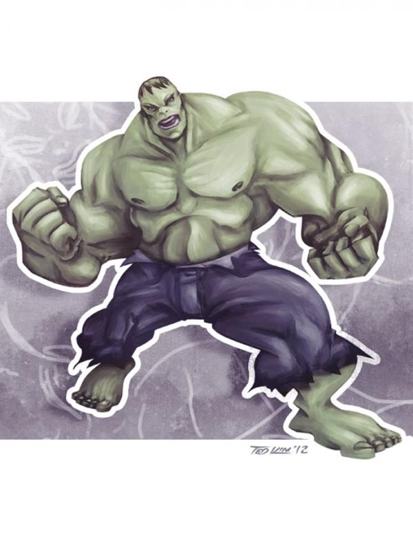 Les illustrations de super-héros par Ted Kim