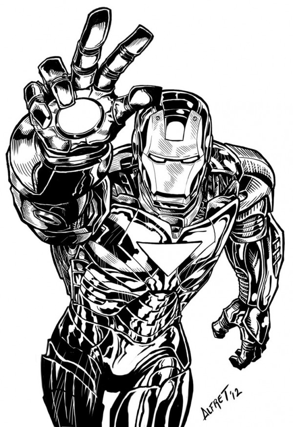 illustration-black-white-super-heros-alfret-Alfredo-Lopez (4)
