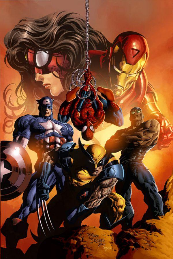 Les illustrations de super-héros de l'artiste Rain Beredo
