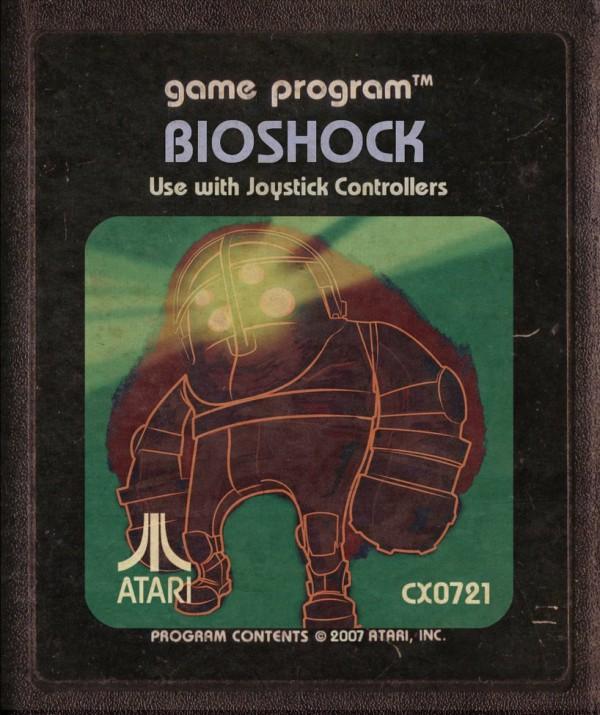 Illustrations de jeux-vidéo dans une version de cartouches Atari par StarRoivas