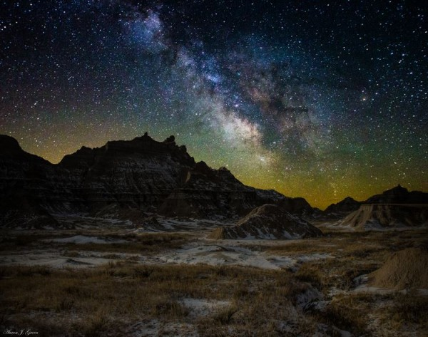 Photographie du jour #330 : Milky Way Badlands