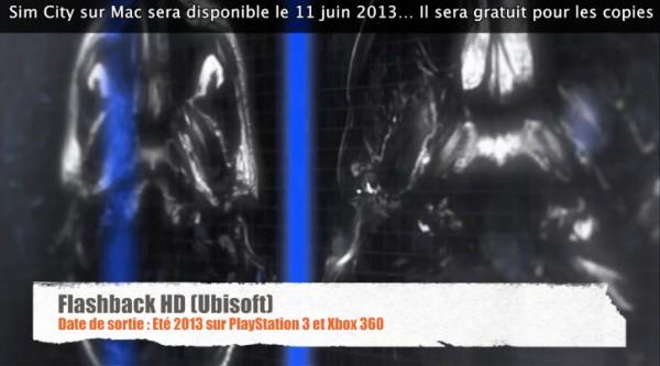 annonce de Flashback HD sur Xbox Live Arcade et SEN/PSN