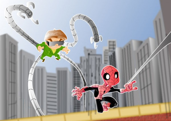 spiderman-illustrations-cartoons-super-heros-kevtoons