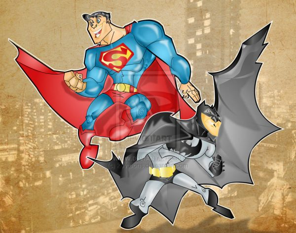 super-man-batman-illustrations-cartoons-super-heros-kevtoons