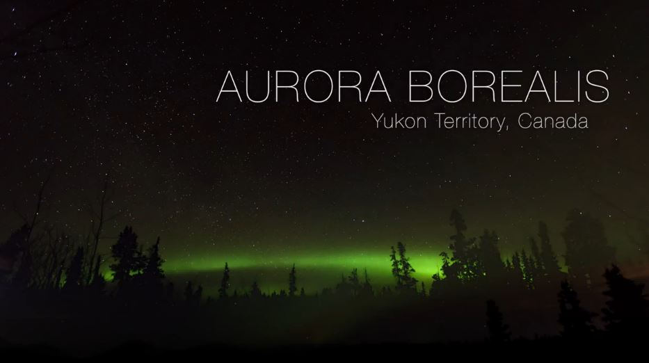 Photo of Time lapse des Aurores Polaires de Yukon – Canada