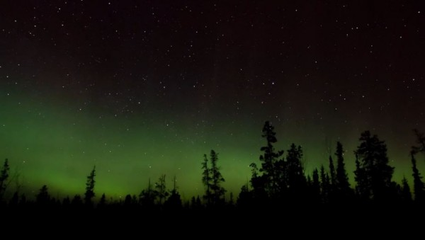 Time lapse des Aurores Polaires de Yukon - Canada