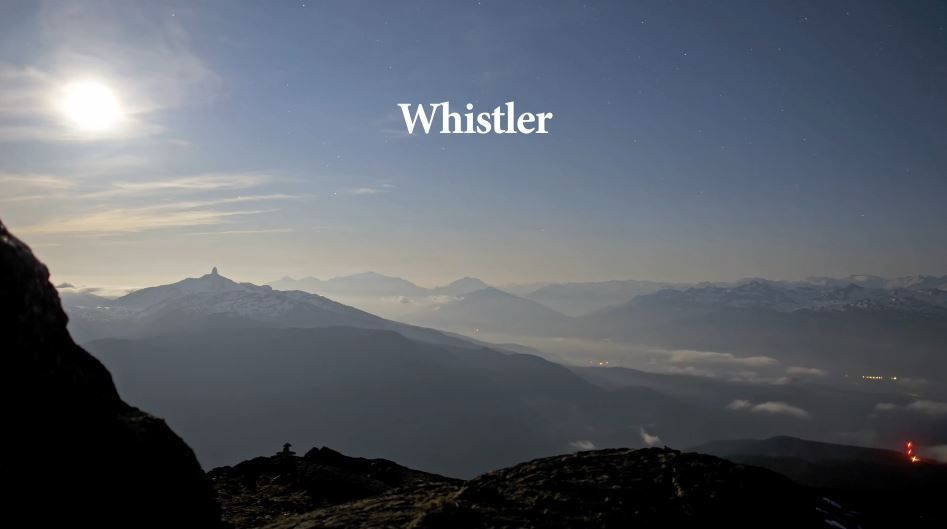 Photo of Time lapse des montagnes de Whistler – Canada