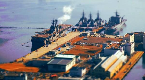 Time lapse de Nagasaki avec des effets Tilt Shift