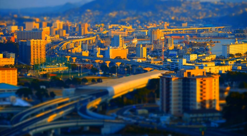 Photo of Time lapse de Nagasaki avec des effets Tilt Shift