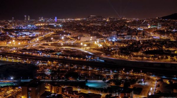 time-lapse-nuit-barcelone