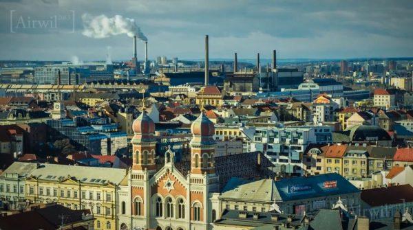 Time lapse de la ville tchéque de Plzeň