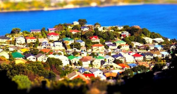 Time lapse avec effets Tilt Shift de Wellington - Nouvelle-Zélande