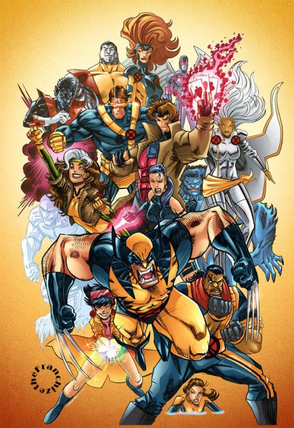 Les illustrations super-héros par Jerry Gaylord