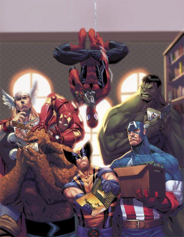 Les illustrations de super-héros par Jorge Molina Manzanero