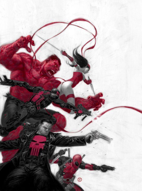 Les illustrations Marvel par Julian Totino Tedesco