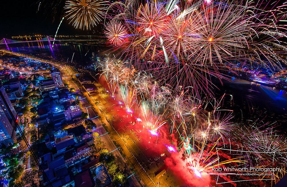 Photo of Time lapse du concours International de Feux d'artifice 2013 à DaNang