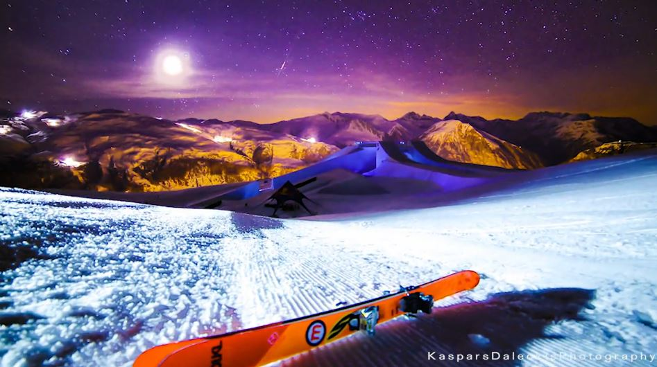 Photo of Time lapse de Nine Knights – Mottolino Fun Mountain en Italie