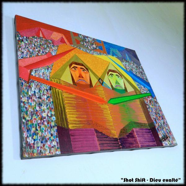 Les tableaux originaux de Michaël BELLON : Shot Shift - Dieu exalté