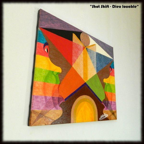 Les tableaux originaux de Michaël BELLON : Shot Shift - Dieu louable
