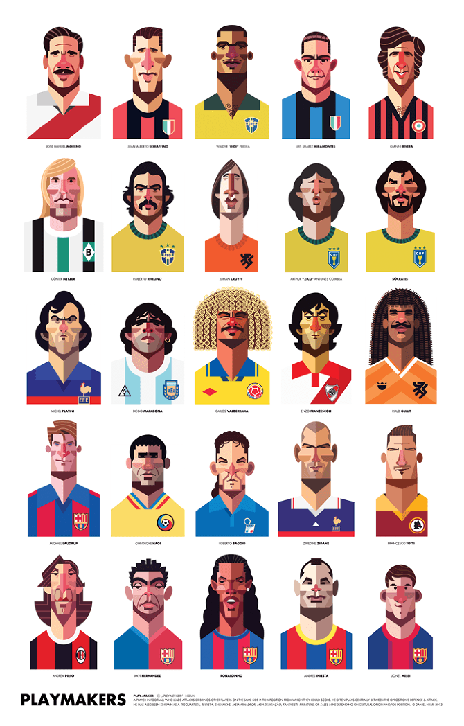 Photo of Playmaker – Illustrations de footballeurs par Daniel Nyari