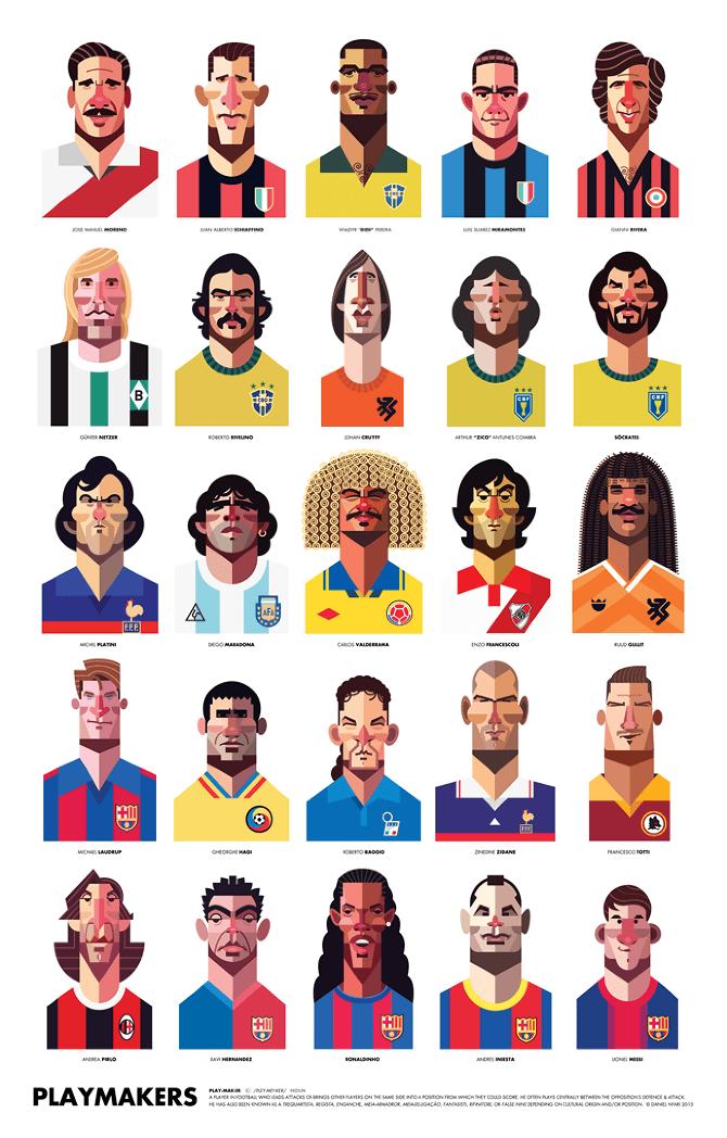 Photo of Playmaker – Illustrations de footballeurs par Daniel Nyari